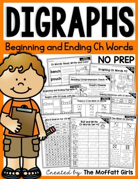 Digraphs (CH Words) NO PREP Packet