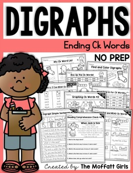 Digraphs (CK Words) NO PREP Packet
