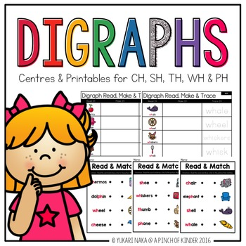 Digraphs: Centres & Printables for CH, SH, TH, WH & PH