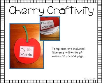 Digraph Ch (Initial and Final) Literacy Activities plus Craftivity