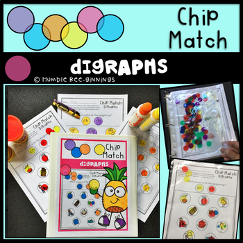 Kindergarten Digraphs Chip Match