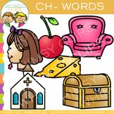 Digraphs Clip Art:  Beginning Ch Words