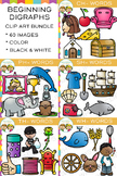 Digraphs Clip Art : Beginning Digraphs Clip Art Bundle Volume One