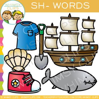 Digraphs Clip Art: Beginning Sh Words -Volume One
