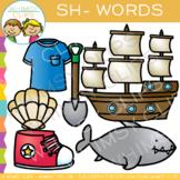 Digraphs Clip Art: Beginning Sh Words