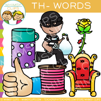 Digraphs Clip Art: Beginning Th Words -Volume One