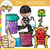 Digraphs Clip Art: Beginning TH Words Clip Art {Volume One}