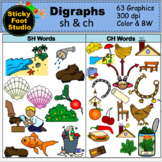Digraphs Clip Art Bundle - SH and CH