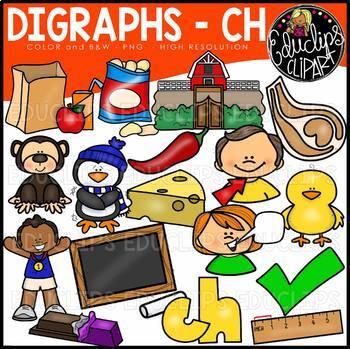 Digraphs Clip Art Mega Bundle {Educlips Clipart}