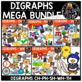 Digraphs Clip Art Mega Bundle {Educlips Clipart}