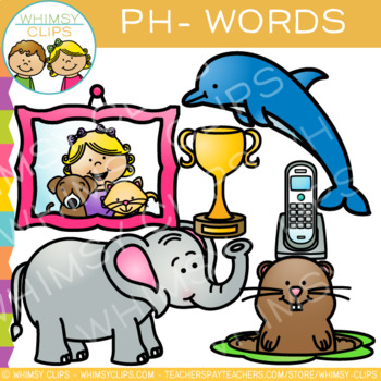Digraphs Clip Art: PH Words Clip Art {Volume One}