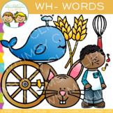 Digraphs Clip Art: Beginning WH Words Clip Art {Volume One}