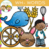 Digraphs Clip Art:  Wh Words