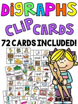 Digraphs Games Clip Cards Bundle