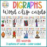 Digraphs Clip Cards Bundle