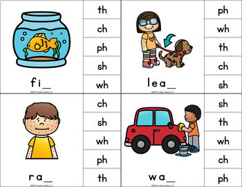 Digraphs Clip Cards Center