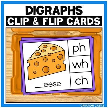 Digraphs Clip Cards Center