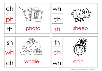 Digraphs Clip It Cards