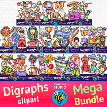 Digraphs Clipart Mega Bundle