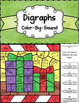 Digraphs ~ Color by Sound ~ Christmas Presents