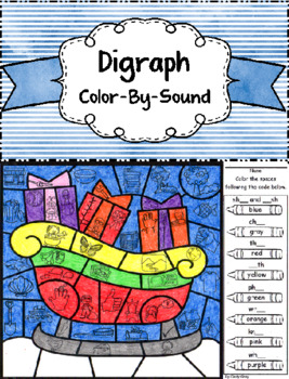 Digraphs ~ Color by Sound ~ Christmas Sleigh