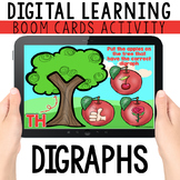 Digraphs: Digital Task Cards   BOOM CARDS™   Distance Learning