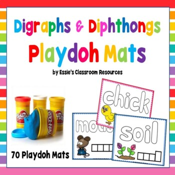 Digraphs & Diphthongs Playdoh Mats