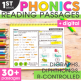 Digraphs, Diphthongs, Silent Letters, & R-Controlled Vowels Phonics 1st Grade
