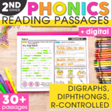 Digraphs, Diphthongs, Silent Letters, & R-Controlled Vowels Phonics 2nd Grade