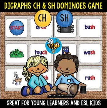 Digraphs Game sh, ch Dominoes