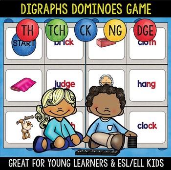 Digraphs Domino Game: th, ck, ng, tch, dge