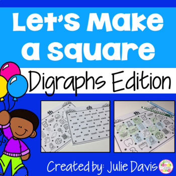 Digraphs Edition Partner Game Activty and Worksheets