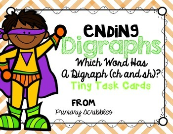 Digraphs (Ending sh and ch) Task Cards