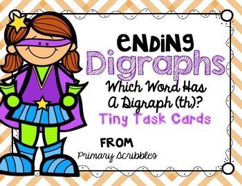Digraphs (Ending th) Tiny Task Cards
