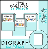 Centers by Design: Digraphs File Folder Tasks {SH, CH, TH, & WH}