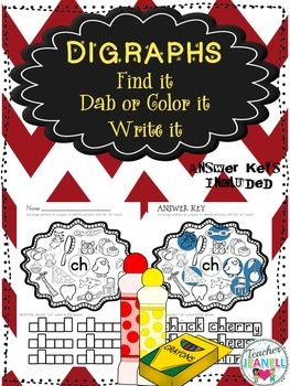 Digraphs - Find it, Dab or Color it, Write it!