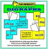 Digraphs Flip Booklets (Consonant Digraphs)