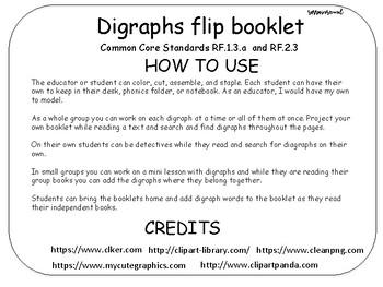 Digraphs Flipbook