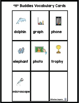 "Digraphs - ""H"" Buddies - ""ph"""