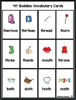 "Digraphs - ""H"" Buddies - ""th"""