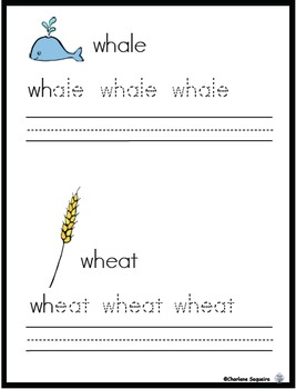 "Digraphs - ""H"" Buddies - ""wh"""