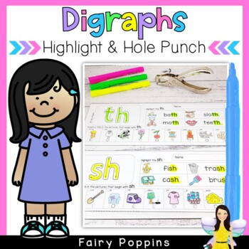 Digraphs - Highlight & Hole Punch