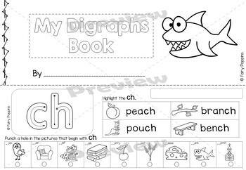 Digraph Worksheets - Highlight & Hole Punch