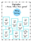 Digraphs - I Have Who Has game!