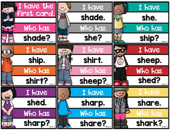 I Have Who Has Game {Digraphs}