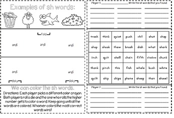 Digraphs Interactive Notebook & Game