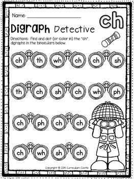 Digraphs Interactive Printables {NO PREP}