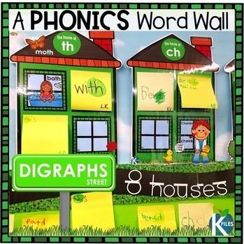 Digraphs Interactive Word Wall