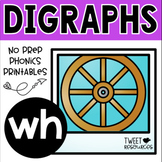 "Digraphs Phonics NO PREP Printables  ""wh"""