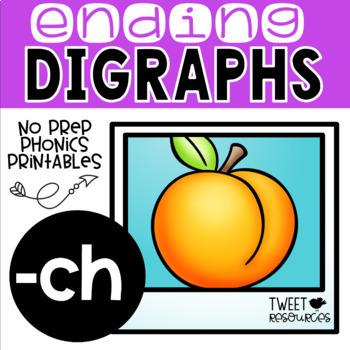 "Digraphs Phonics NO PREP Printables ""-ch"""